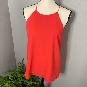 Paper Crane L pink coral Buckle brand blouse top